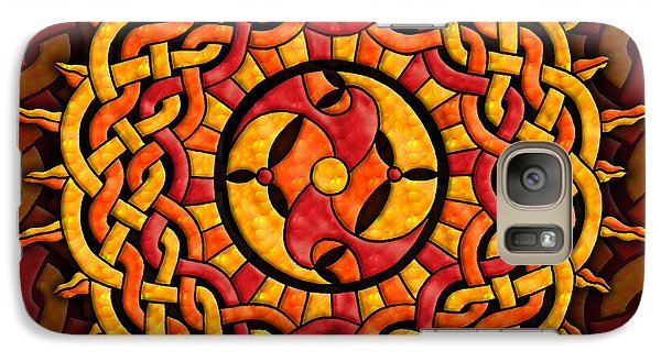 Galaxy Case featuring the mixed media Celtic Sun by Kristen Fox