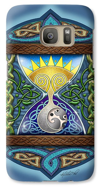 Galaxy Case featuring the mixed media Celtic Sun Moon Hourglass by Kristen Fox
