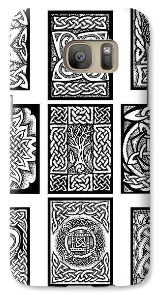 Galaxy Case featuring the drawing Celtic Tarot Spread by Kristen Fox