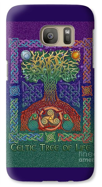 Galaxy Case featuring the mixed media Celtic Tree Of Life by Kristen Fox