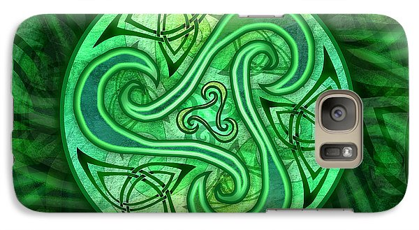 Galaxy Case featuring the mixed media Celtic Triskele by Kristen Fox