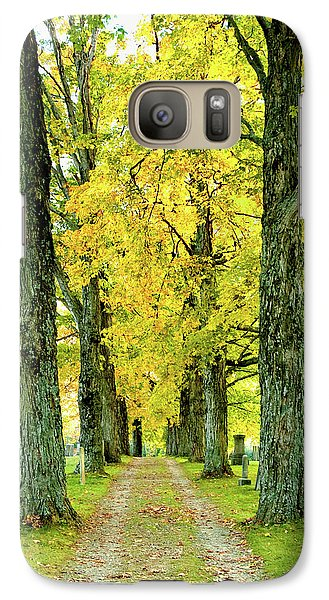 Galaxy Case featuring the photograph Cemetery Lane by Greg Fortier