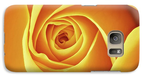 Galaxy Case featuring the photograph Center Of A Yellow Rose by Jim Hughes