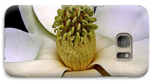 Galaxy Case featuring the photograph Centerpiece - Magnolia Blossom 010 by George Bostian