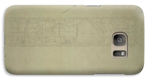 Galaxy Case featuring the photograph Central Park City Of New York Department Of Parks Map 1934 by Duncan Pearson