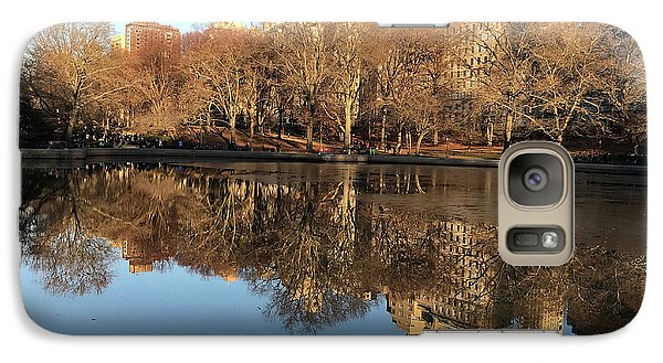 Galaxy Case featuring the photograph Central Park City Reflections by Madeline Ellis
