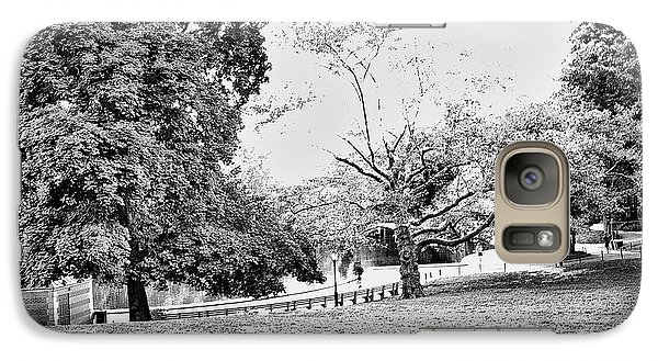 Galaxy Case featuring the photograph Central Park In Black And White by Madeline Ellis