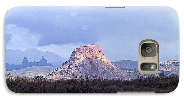 Galaxy Case featuring the painting Cerro Castellan And Mule Ears  by Dennis Ciscel