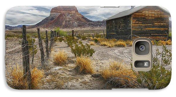 Galaxy Case featuring the tapestry - textile Cerro Castellan - Big Bend - Color by Kathy Adams Clark