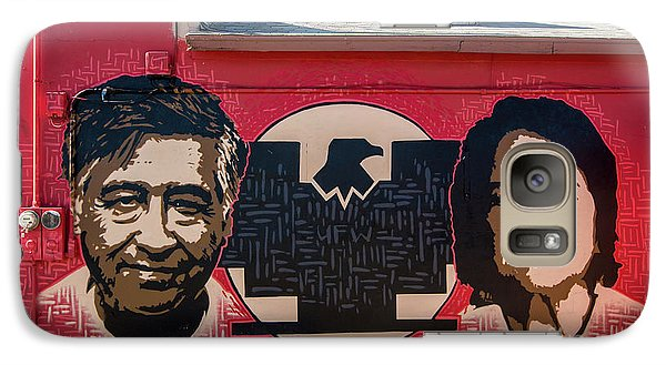 Galaxy Case featuring the photograph Cesar Chavez And Dolores Huerta Mural - Utah by Gary Whitton