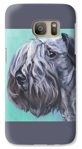 Galaxy Case featuring the painting Cesky Terrier by Lee Ann Shepard