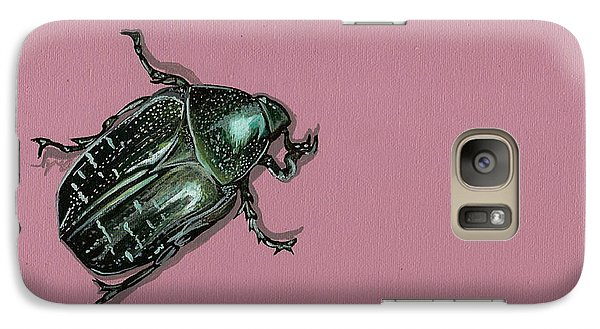 Galaxy Case featuring the painting Chaf Beetle by Jude Labuszewski