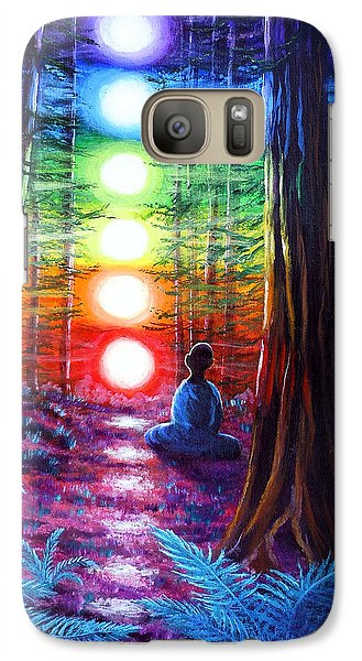 Surrealism Galaxy S7 Case - Chakra Meditation In The Redwoods by Laura Iverson
