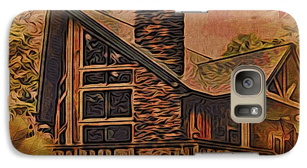 Galaxy Case featuring the digital art Chalet In Autumn by Kathy Kelly