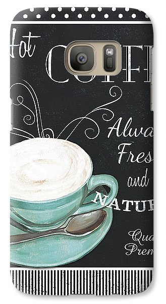 Galaxy Case featuring the painting Chalkboard Retro Coffee Shop 1 by Debbie DeWitt