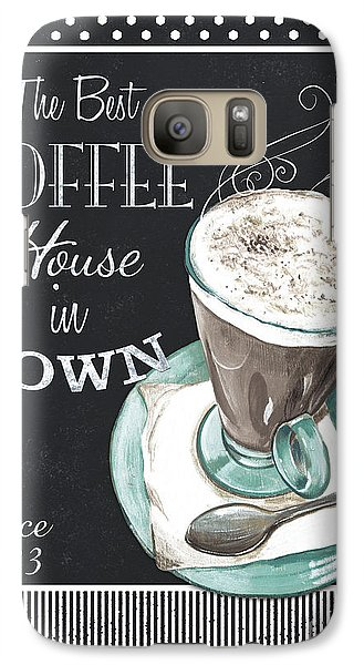 Galaxy Case featuring the painting Chalkboard Retro Coffee Shop 2 by Debbie DeWitt