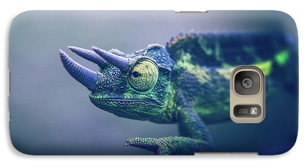 Galaxy Case featuring the photograph Chamaeleo Jacksonii by Sharon Mau