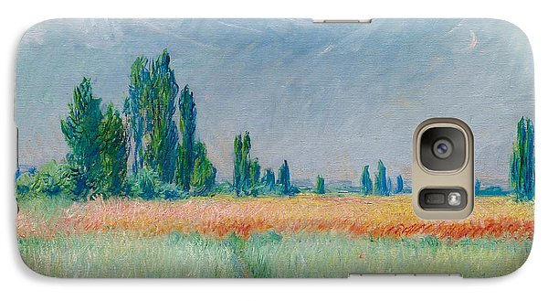 Galaxy Case featuring the painting Champ De Ble by Claude Monet