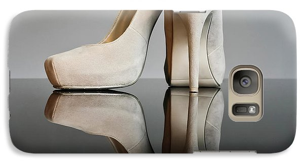 Galaxy Case featuring the photograph Champagne Stiletto Shoes by Terri Waters