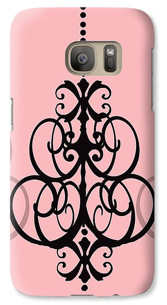 Galaxy Case featuring the photograph Chandelier Delight 1- Pink Background by KayeCee Spain