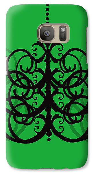 Galaxy Case featuring the photograph Chandelier Delight 2- Green Background by KayeCee Spain