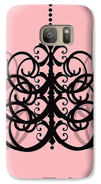 Galaxy Case featuring the photograph Chandelier Delight 2- Pink Background by KayeCee Spain