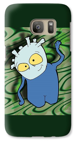 Galaxy Case featuring the drawing Chane by Uncle J's Monsters