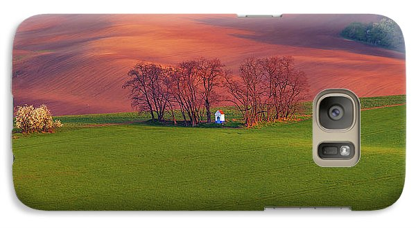 Galaxy Case featuring the photograph Chapel St Barbara. Moravian Tuscany by Jenny Rainbow