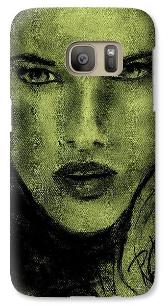 Galaxy Case featuring the drawing char-Carol by P J Lewis