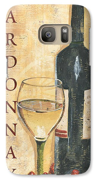 Chardonnay Wine And Grapes Galaxy S7 Case by Debbie DeWitt