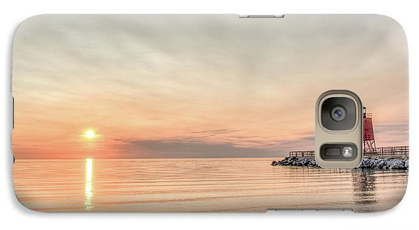 Galaxy Case featuring the photograph Charelvoix Lighthouse In Charlevoix, Michigan by Peter Ciro
