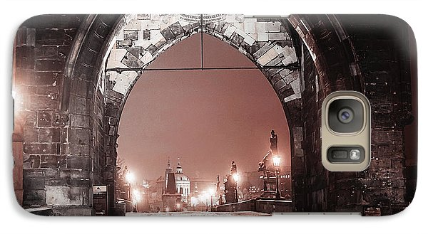Galaxy Case featuring the photograph Charles Bridge In Winter. Prague by Jenny Rainbow
