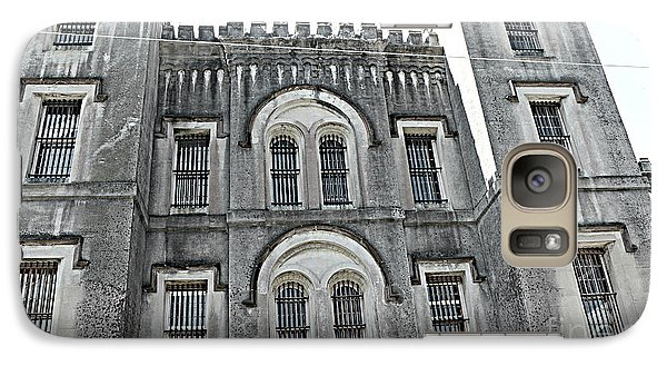 Galaxy Case featuring the photograph Charleston Historical Haunted Old Jail House - Charleston Old Jail Civil War Architecture  by Kathy Fornal
