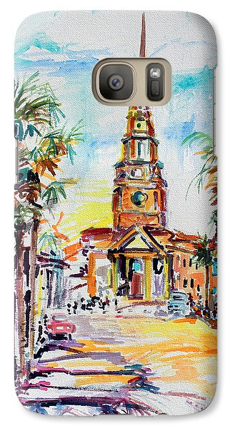 Galaxy Case featuring the painting Charleston South Carolina Episcopal Church by Ginette Callaway