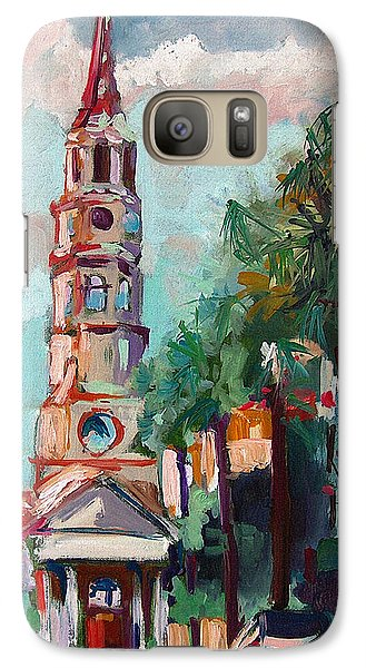 Galaxy Case featuring the painting Charleston St Phillips Church by Ginette Callaway