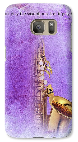 Charlie Parker Saxophone Purple Vintage Poster And Quote, Gift For Musicians Galaxy S7 Case