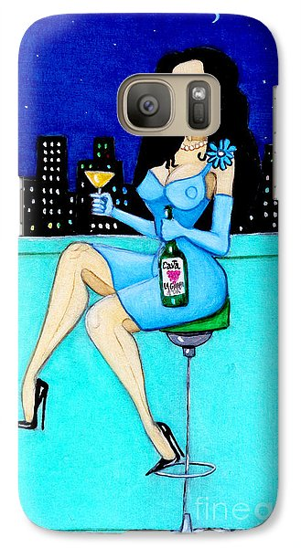 Galaxy Case featuring the painting Charming Lady At Night by Don Pedro De Gracia