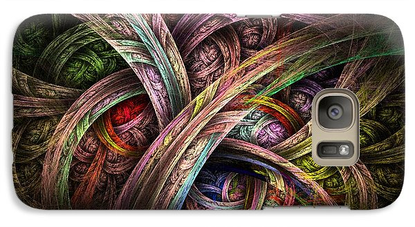 Galaxy Case featuring the digital art Chasing Colors - Fractal Art by NirvanaBlues