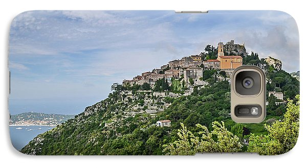 Galaxy Case featuring the photograph Chateau D'eze On The Road To Monaco by Allen Sheffield