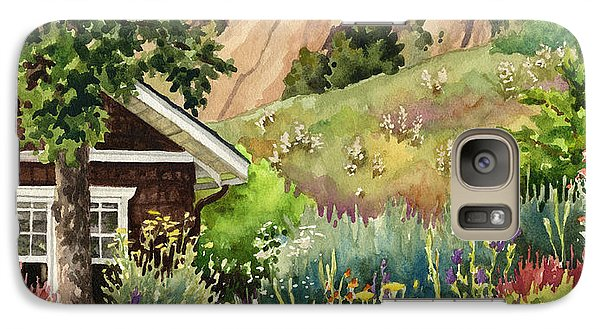 Galaxy Case featuring the painting Chautauqua Cottage by Anne Gifford