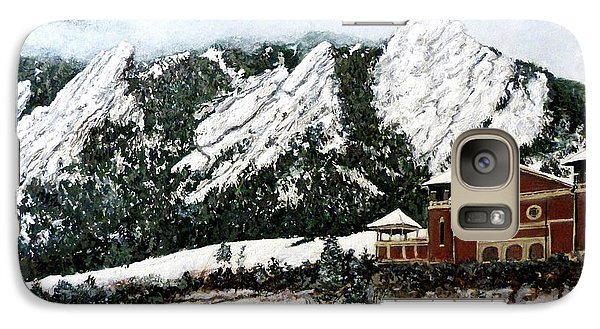 Galaxy Case featuring the painting Chautauqua - Winter, Late Afternoon by Tom Roderick