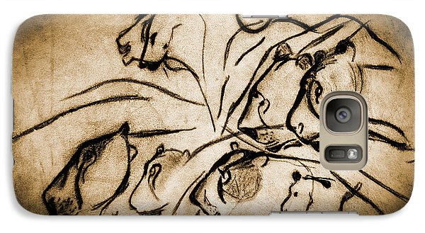 Chauvet Cave Lions Burned Leather Galaxy S7 Case