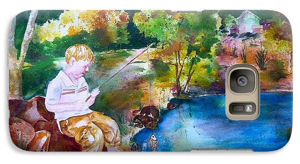 Galaxy Case featuring the painting Chayton's Lake In The Woods by Sharon Mick