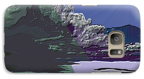 Galaxy Case featuring the digital art 1978 - Nowhere  by Irmgard Schoendorf Welch