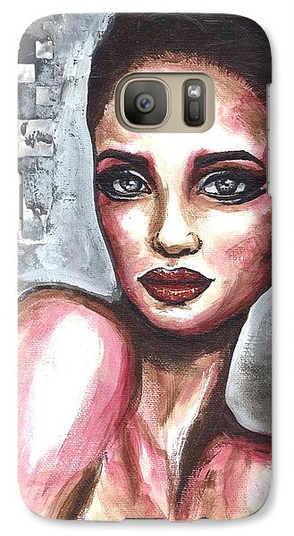 Galaxy Case featuring the painting Checkered Past by Alga Washington