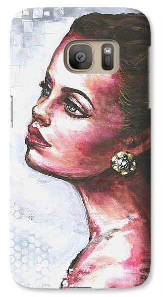 Galaxy Case featuring the painting Checkered Past Part II by Alga Washington