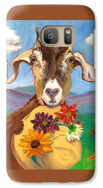 Galaxy Case featuring the painting Cheeky Goat by Susan Thomas
