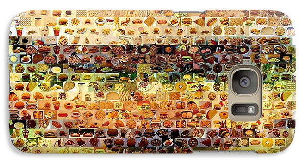 Galaxy Case featuring the mixed media Cheeseburger Fast Food Mosaic by Paul Van Scott