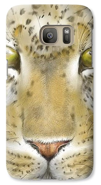 Galaxy Case featuring the digital art Cheetah Face by Darren Cannell
