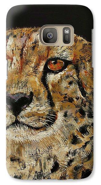 Cheetah Galaxy Case by Michael Creese
